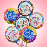 6 Large Mylar Balloons for Birthdays,  Congratulations, Get well, etc. Just let us know for what occasion in the additional information area.