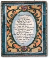 Lord's Prayer Funeral throw