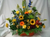 Bright Mixture of Many Colors for people that   like the non-funeral look. Something someone could take home after services.