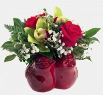 Love Birds by Fendley Fresh Flowers in container