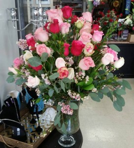 WITH LOVE MIXED ROSE ARRANGMENT