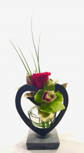 Loving Heart by Fendley Floral in Contemporary Heart Vase