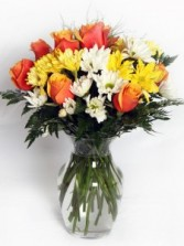 Many Thanks-Color Options Mixed Flower Arrangement