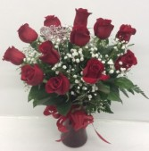 Medium Red Rose Arrangement