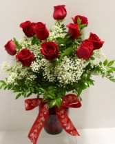Medium Red Rose Arrangement  Fresh Flower Arrangement