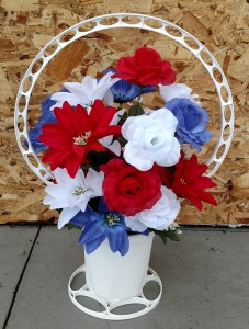 Memorial Day Basket Planter  in Highmore, SD | Amber Waves Floral & Gifts