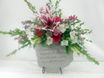 Memory Stone  Fresh Flower Arrangement