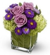 JB 5-Mixed flowers in a compact arrangement (Flowers and colors may vary)