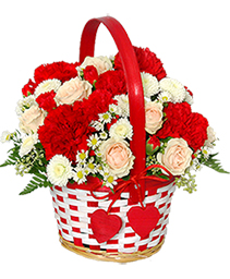 My Sweetie Bouquet Flower Basket