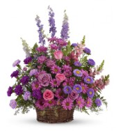 Beautiful shades of lavenders and purple flowers  arranged.