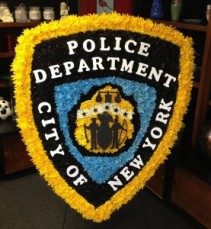 NEW YORK CITY POLICE BADGE FUNERAL