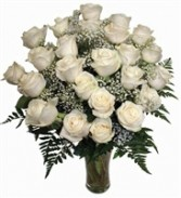 TWO Dozen WHITE Roses Arrangement