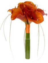 ORANGE CALLA  LILIES HAND TIED BRIDAL BOUQUET in Clarksburg, MD | GENE'S FLORIST & GIFT BASKETS