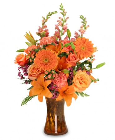 ORANGE UNIQUE Floral Arrangement