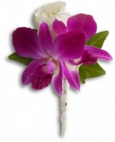 Orchid and Rose Boutonniere Boutonniere