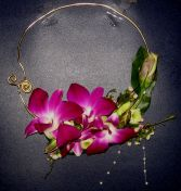 Wedding-Orchid Delight Necklace Corsage Custom Design. Please call for further information