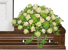 OVERFLOWING AFFECTION Casket Spray in Prospect, CT | MARGOT'S FLOWERS & GIFTS