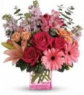 Painterly pink Bouquet  by Enchanted Florist