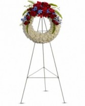 Patriotic Wreath Sympathy