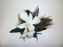PEACOCK JAZZ Prom Boutonniere