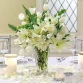 Pearled Passions Vased Centerpiece