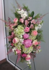 Peonies and Pink Tribute Funeral Spray
