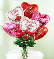 Perfect Dozen Flowers and Balloons