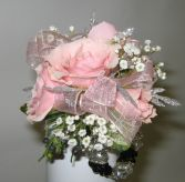 Wrist Corsage-Pink Elegance Custom Design-Please call for further information