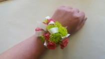 Pink & Green Corsage