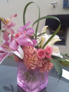 Pink Lily Cube in Hialeah, FL | JACK THE FLORIST
