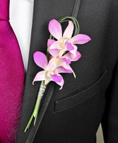 CHIC PINK ORCHID Prom Boutonniere in Marion, IA | ALL SEASONS WEEDS FLORIST 