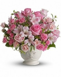 Pink Potpourri Bouquet with Roses ---