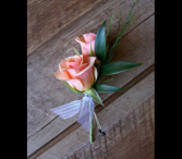 Pink Spray Rose Bout Boutonierre