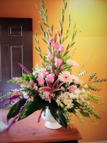 Pink tribute Sympathy Arrangement