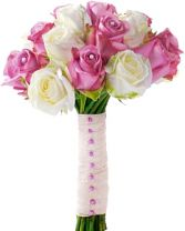 PINK & WHITE ROSES     BRIDAL BOUQUET in Clarksburg, MD | GENE'S FLORIST & GIFT BASKETS