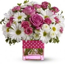 Polka Dots and Posies Flowers Birthday for everyone