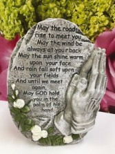 Praying Hands w/Monument