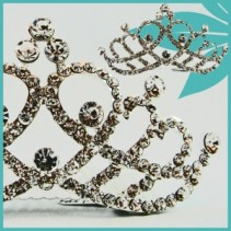 Princess Crystal Tiara Comb Wedding Accessories