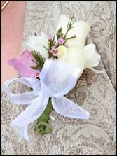 WHITE & LAVENDER ROSES Prom Corsage in Texarkana, TX | RUTH'S FLOWERS