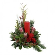 Protea Perfection Red Centerpiece