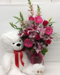 Pure Romance with Bear Arrangement