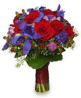 WEDDING BRIDAL BOUQUET Rich Jewel-toned Flowers in Clarksburg, MD | GENE'S FLORIST & GIFT BASKETS