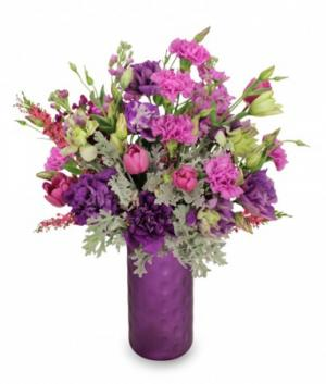 Celestial Purple  Arrangement in Hermann, MO | Terraflora Botanicals & Gifts