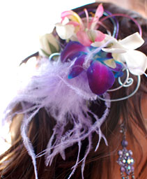 Purple Orchid Prom Hair Clip Prom Accessories