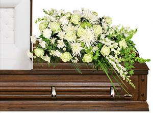 QUIET COMMEMORATION Casket Arrangement in Richland, WA | ARLENE'S FLOWERS AND GIFTS