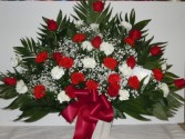 Red and White (TB 5) Funeral Basket