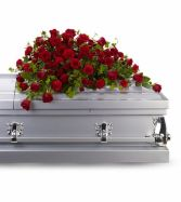 Red Roses Reverence Casket Spray SY114