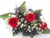 Red Roses With Black Ribbon