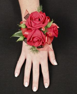 PUTTING ON THE RITZ RED Prom Corsage in New York, NY | FLOWERS BY RICHARD