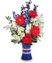 RED, WHITE & BEAUTIFUL Bouquet of Flowers in Red Wing, MN | HALLSTROM'S FLORIST & GREENHOUSES